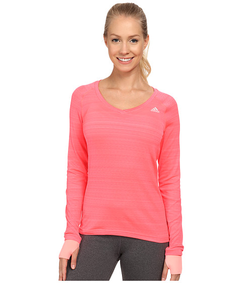 adidas - Supernova Long Sleeve Tee (Flash Red/Lite Red) Women's Workout
