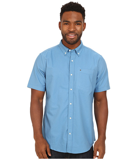 Hurley - Ace Oxford 2.0 Short Sleeve Shirt (Horizon) Men