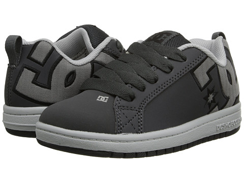 DC Kids - Court Graffik SE (Little Kid/Big Kid) (Battleship/Armor) Girls Shoes
