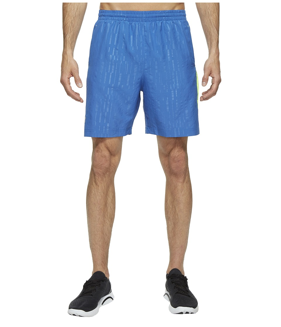 Under Armour - UA Launch Woven 7 Short (Squadron/Fuel Green/Reflective) Men's Shorts