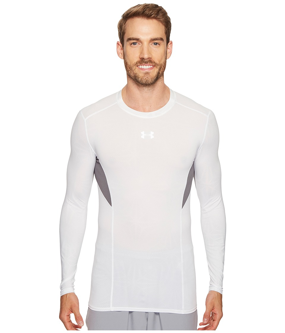 Under Armour - UA Heatgear(r) Coolswitch Compression Long Sleeve Shirt (White/Graphite/Reflective) Men's Long Sleeve Pullover