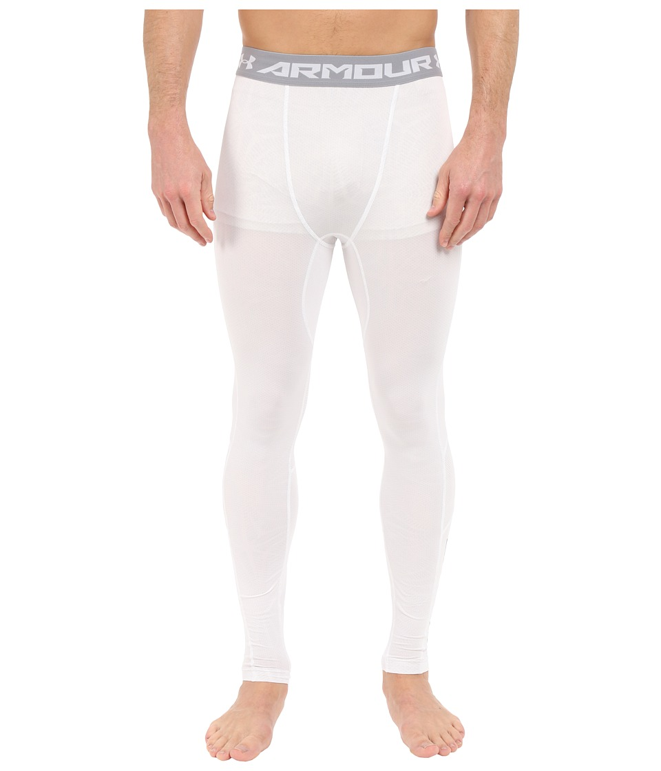 Under Armour - UA Heatgear(r) Coolswitch Compression Leggings (White/White/Reflective) Men's Workout