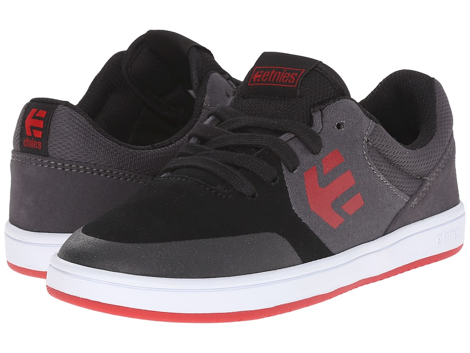 etnies Kids - Marana (Toddler/Little Kid/Big Kid) (Black/Dark Grey/Red) Boys Shoes