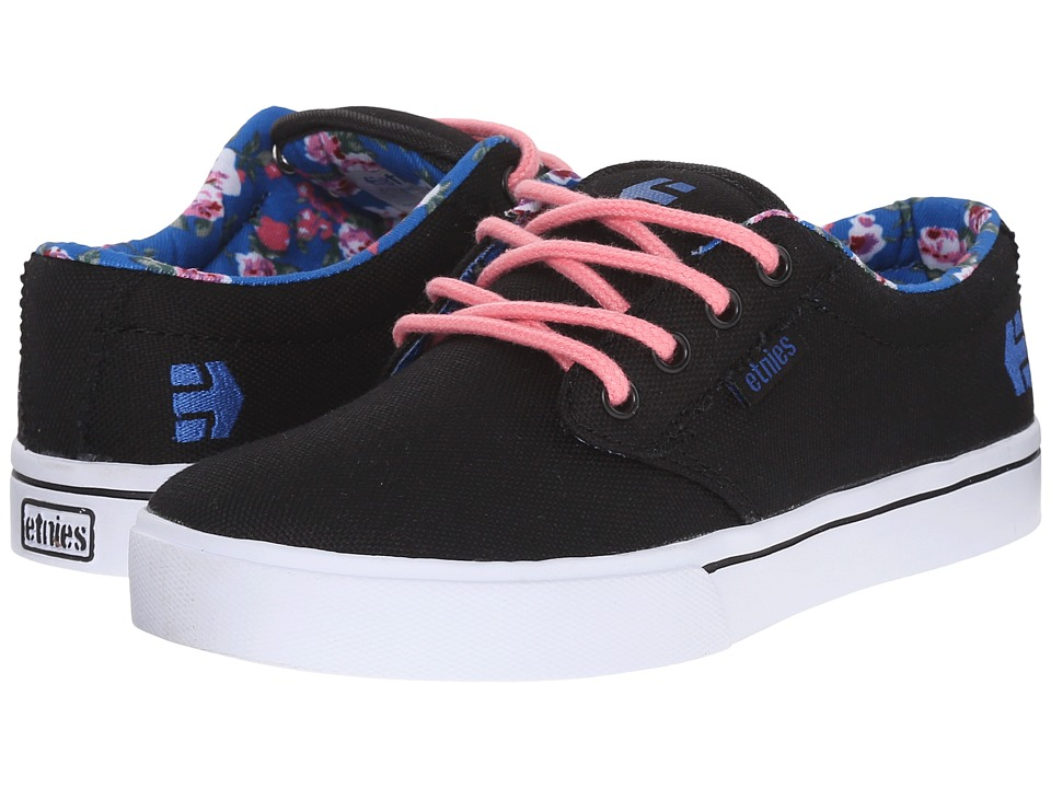 etnies Kids - Jameson 2 Eco (Toddler/Little Kid/Big Kid) (Black/Blue/White) Girls Shoes