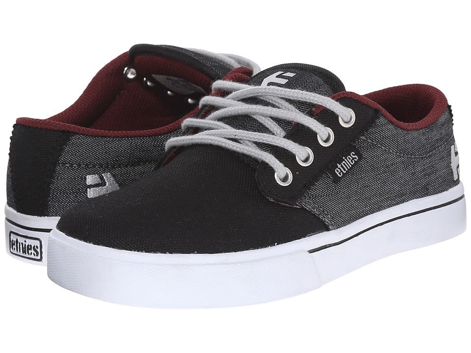 etnies Kids - Jameson 2 Eco (Toddler/Little Kid/Big Kid) (Black/Denim Canvas/Denim) Boys Shoes