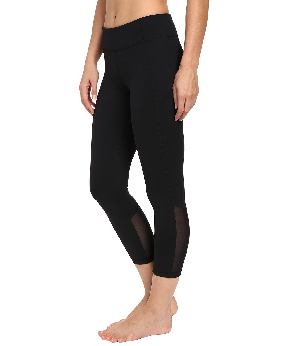 Under Armour - Mirror Crop Pants (Steel/Black/Silver) Women's Workout