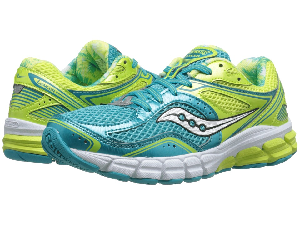 Saucony - Lancer (Blue/Yellow) Women's Running Shoes