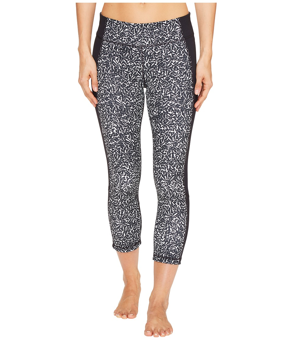 Under Armour - Shape Shifter Printed Crop Pants (Black/White/Silver) Women's Workout