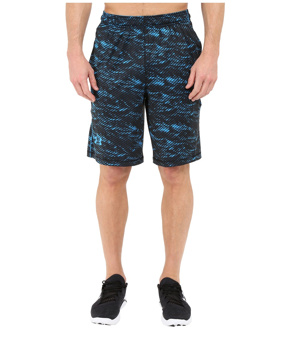 Under Armour - UA Raid Novelty Short (Black/Black/Electric Blue) Men's Shorts