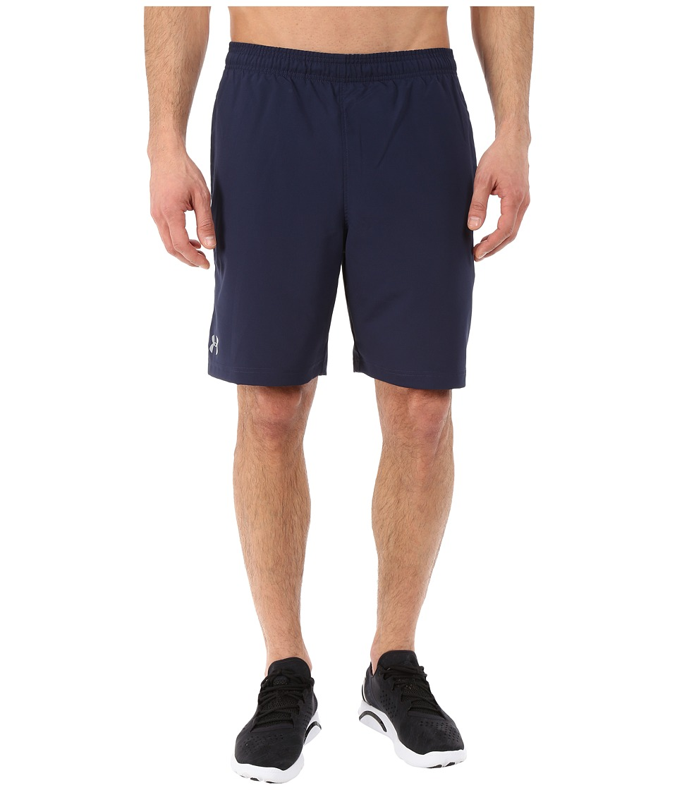 Under Armour - UA Hitt Woven Shorts (Midnight Navy/Midnight Navy/Steel) Men's Shorts