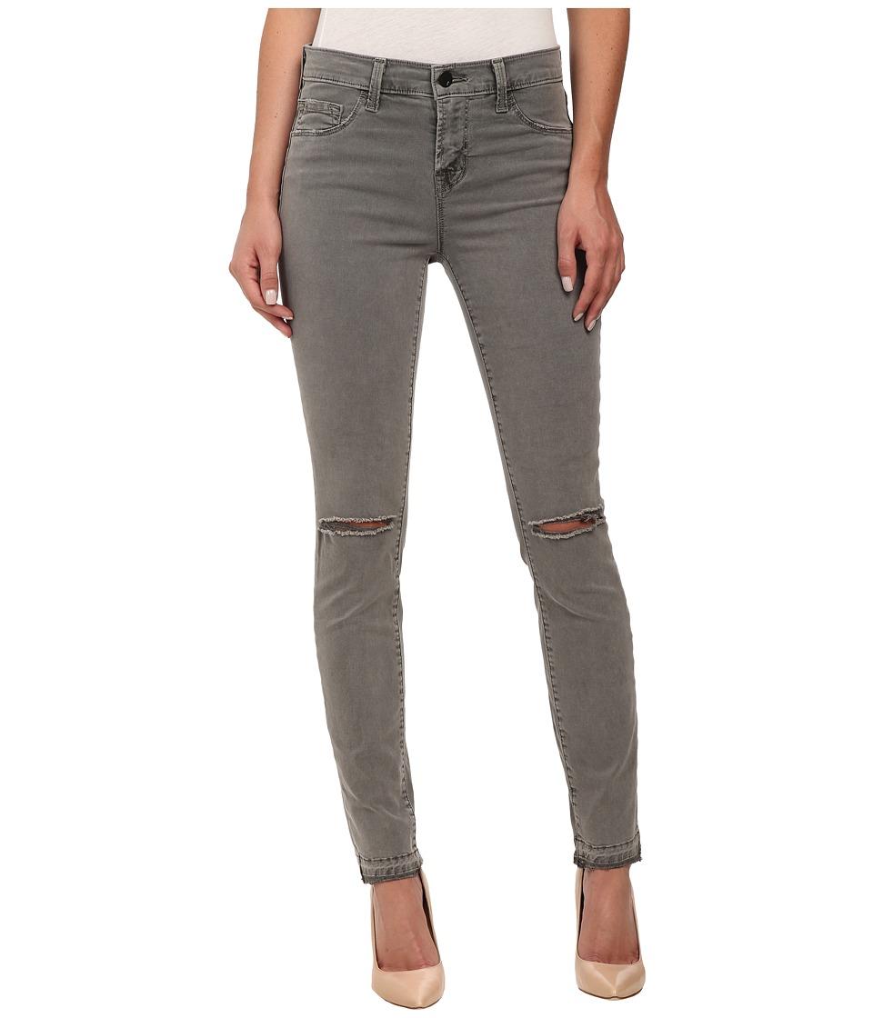 J Brand - Mid Rise Destructed Skinny Jeans in Silver Fox (Silver Fox) Women's Jeans