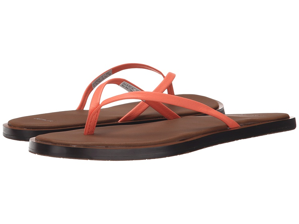 Sanuk - Yoga Aurora (Hot Coral) Women's Sandals