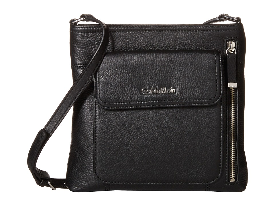 Calvin Klein - Pebble Crossbody (Black/Silver) Cross Body Handbags