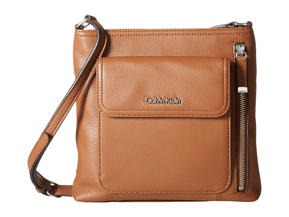 Calvin Klein - Pebble Crossbody (Luggage) Cross Body Handbags