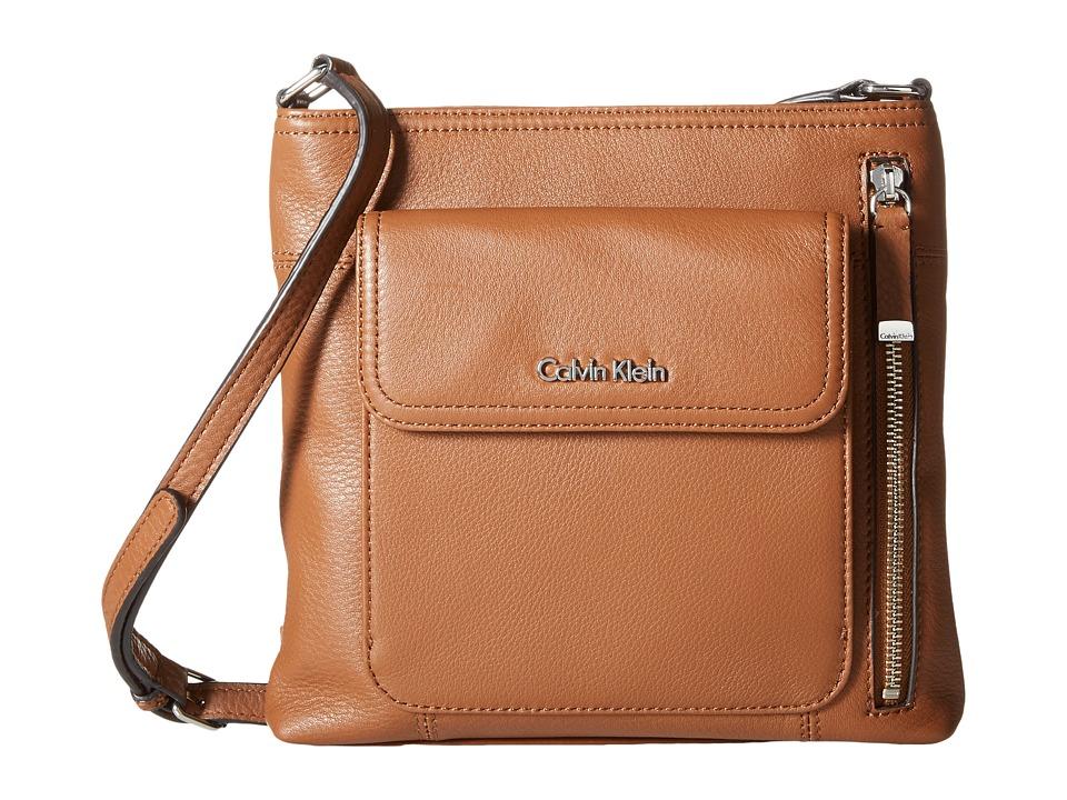 Calvin Klein - Pebble Crossbody (Luggage) Cross Body Handbags