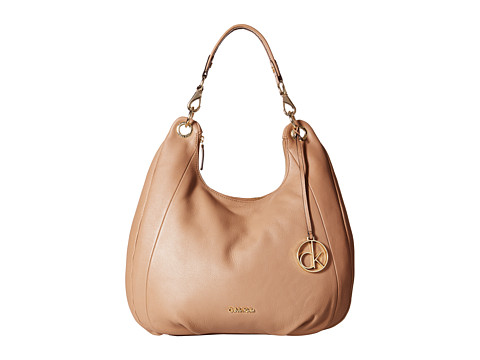Calvin Klein - Pebble Hobo (Mocha) Hobo Handbags