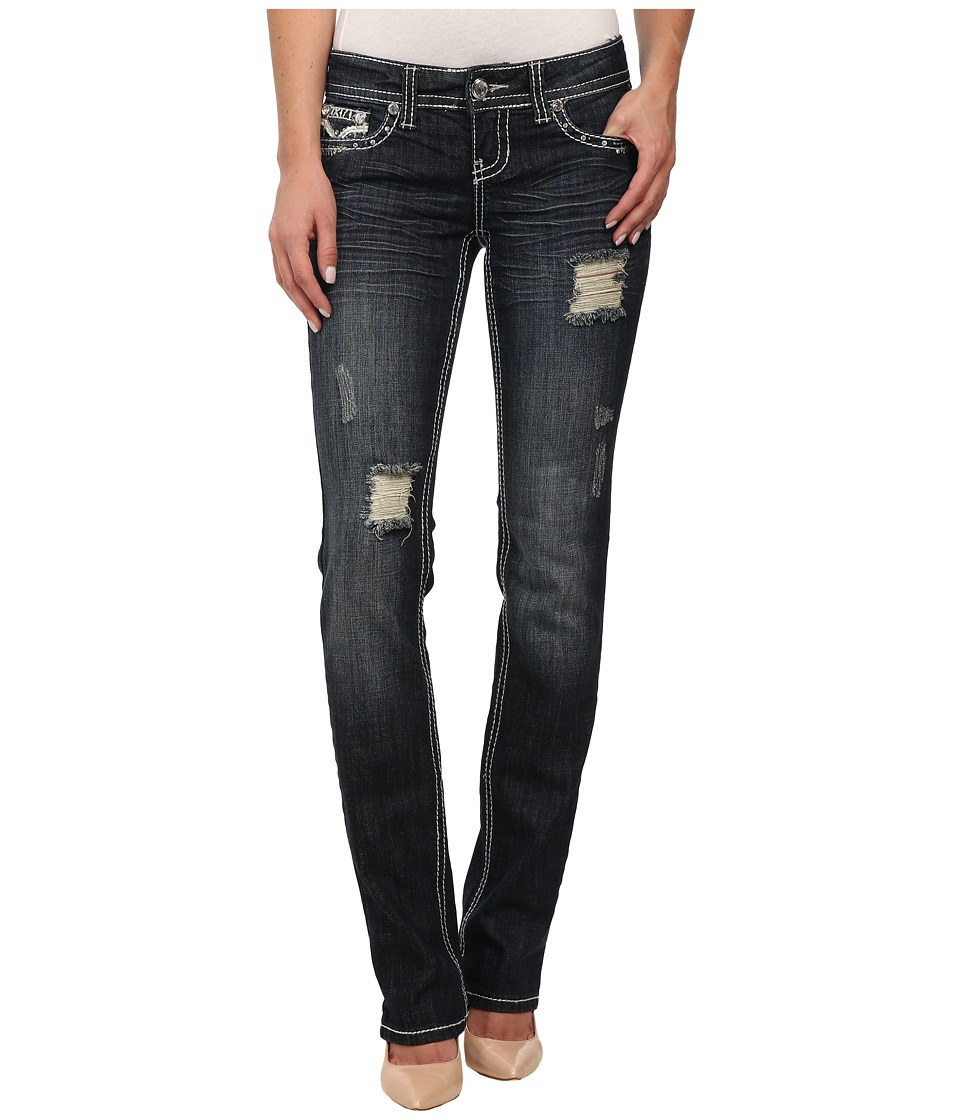 Antique Rivet - Straight Leg Jeans in Billboard (Billboard) Women