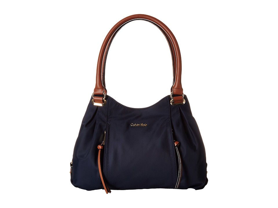 Calvin Klein - Dressy Nylon Shopper (Navy) Tote Handbags