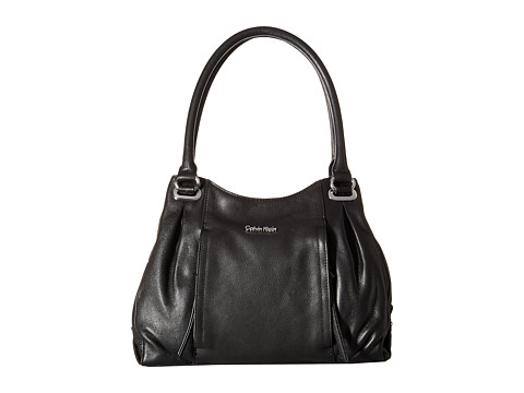 Calvin Klein - Pebble Shopper (Black/Silver) Handbags
