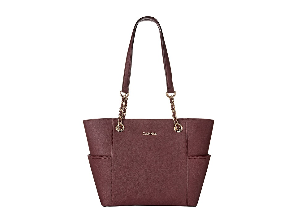 Calvin Klein - Key Items H3DA11HU (Rum Raisin) Tote Handbags