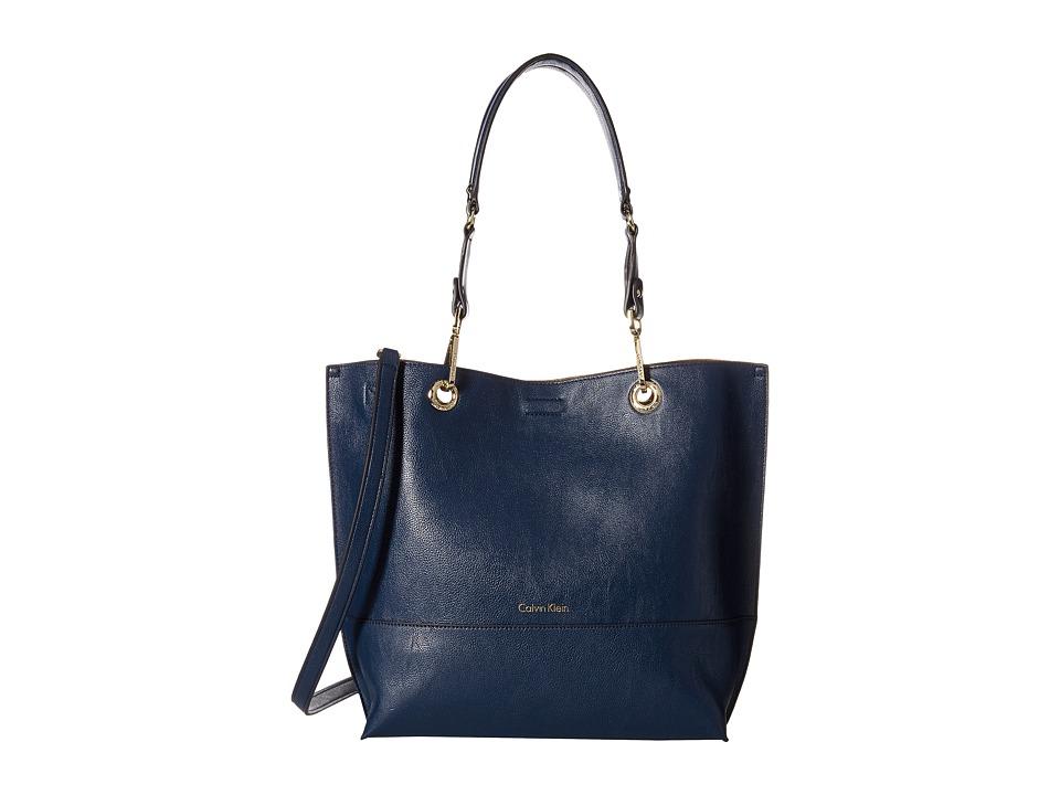 Calvin Klein - Reversible Tote (Navy/Luggage) Tote Handbags