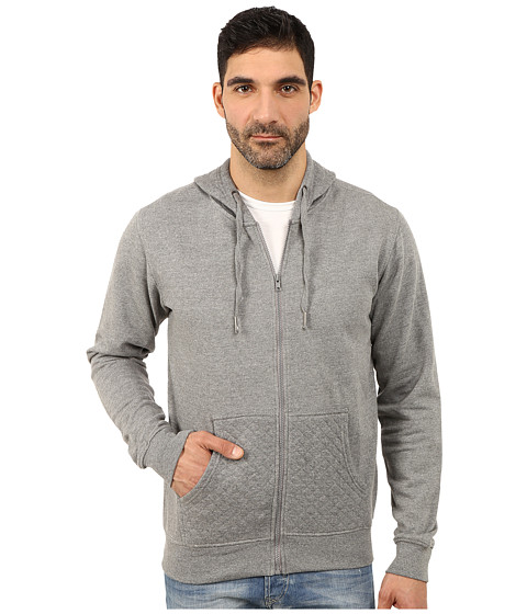 Request - Quilted Hoodie (Grey Heather) Men's Sweatshirt