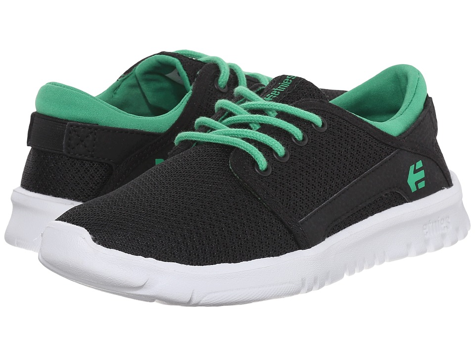 etnies Kids - Scout (Toddler/Little Kid/Big Kid) (Black/Green) Boys Shoes