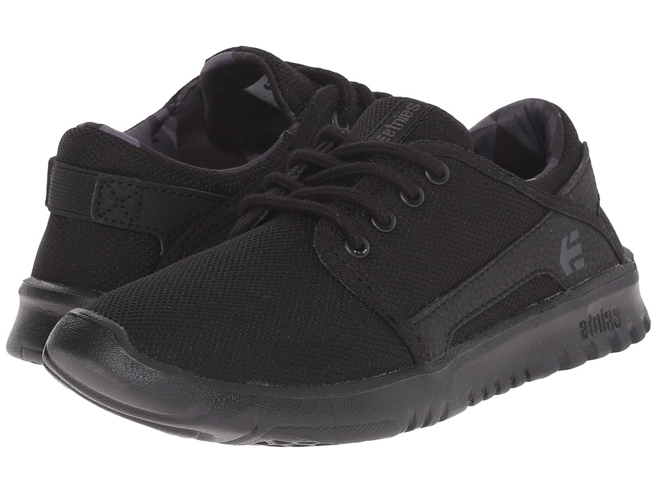 etnies Kids - Scout (Toddler/Little Kid/Big Kid) (Black/Grey/Black) Boys Shoes