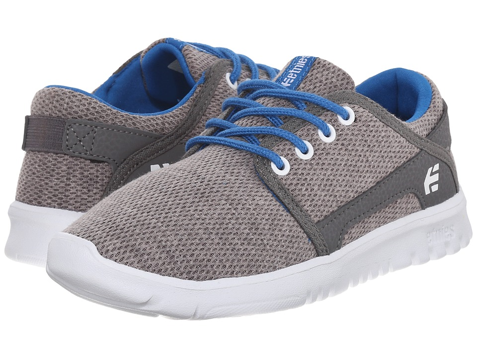 etnies Kids - Scout (Toddler/Little Kid/Big Kid) (Grey/Grey/Blue) Boys Shoes