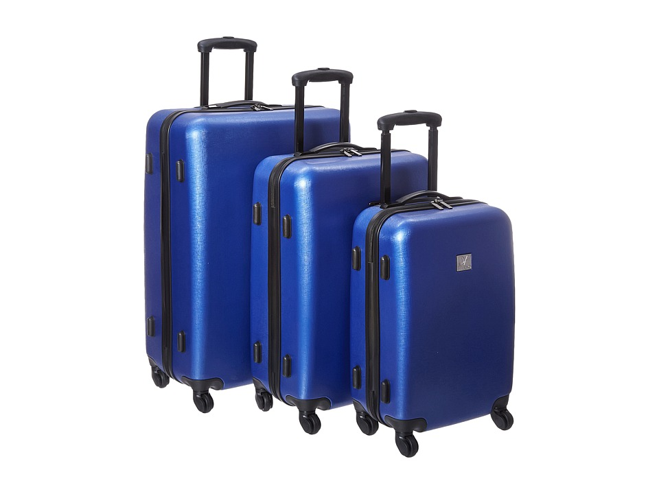 Diane von Furstenberg - Soleil Three-Piece Hardside Spinner Set (Lapis Shock) Luggage