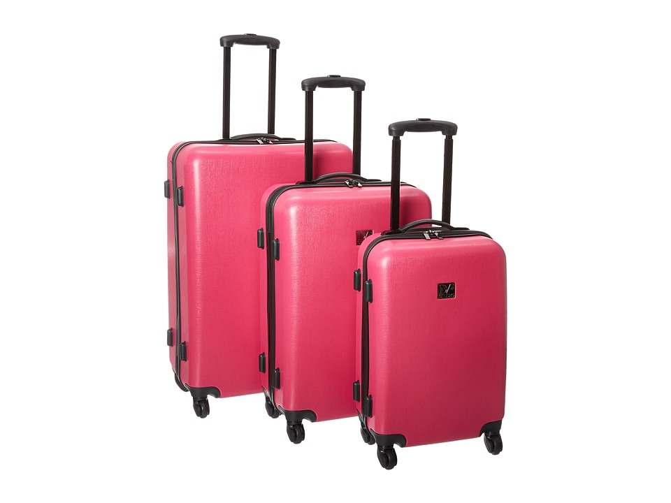 Diane von Furstenberg - Soleil Three-Piece Hardside Spinner Set (Beet) Luggage