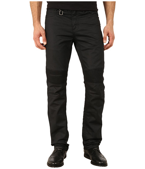 Request - Stephen Moto Jeans in Black Costed (Black Costed) Men