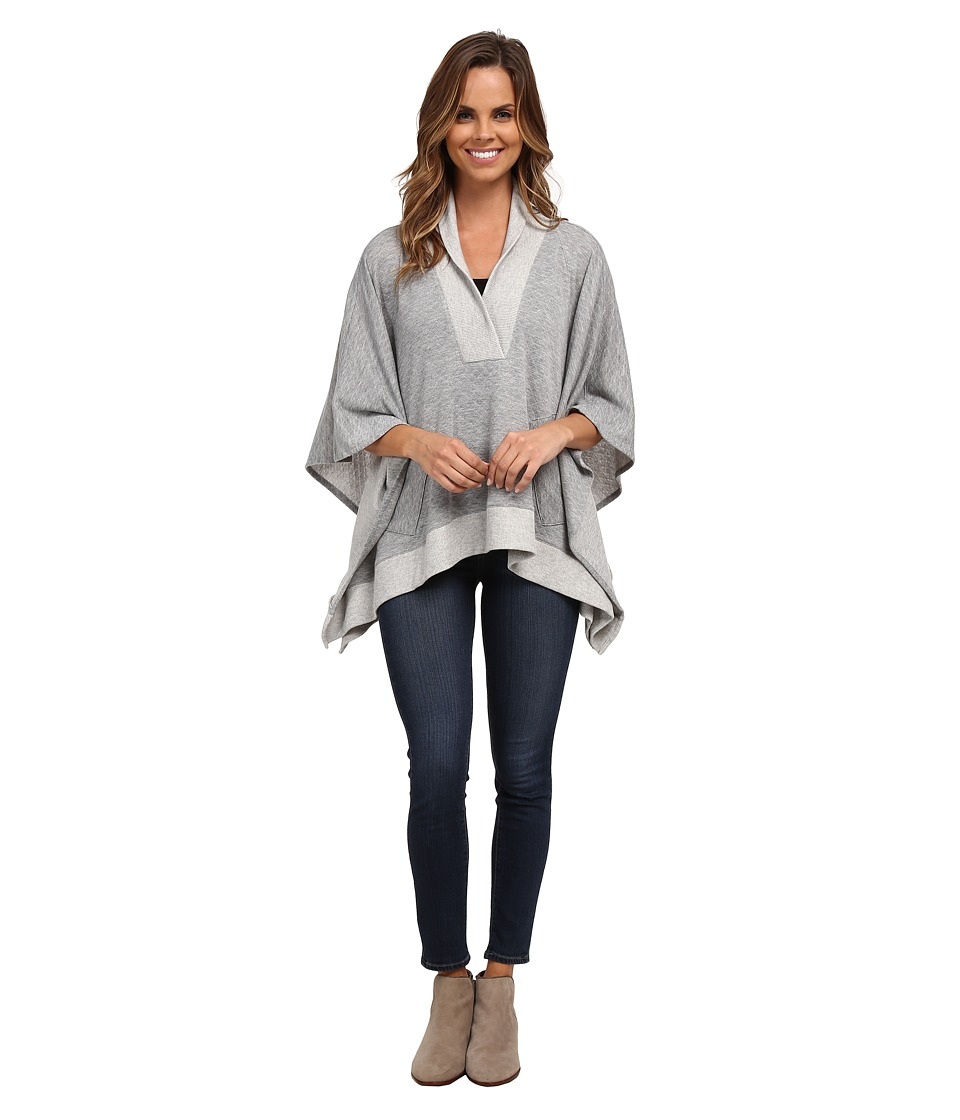 Miraclebody Jeans - Quilted Poncho (Heather Grey) Women's Coat