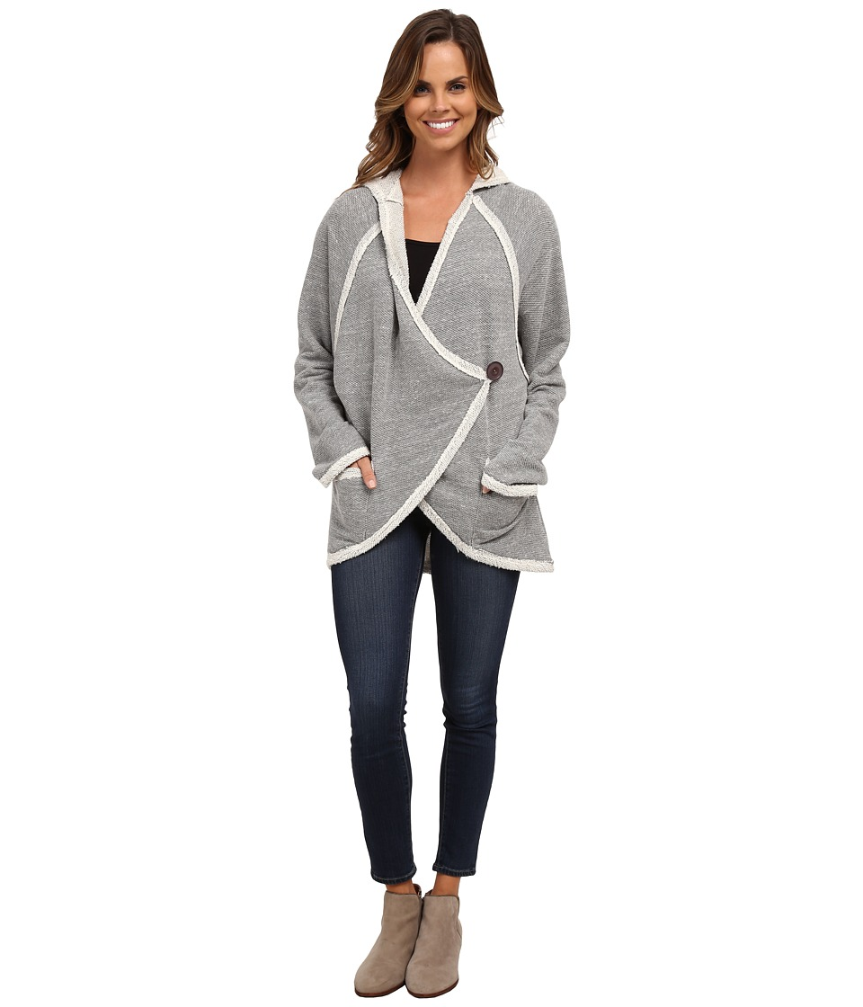 Miraclebody Jeans - Cozy Cacoon Hooded Jacket (Heather Grey) Women's Coat