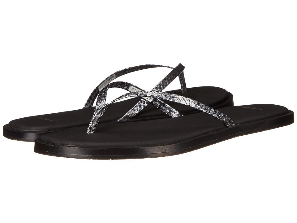 Sanuk - Yoga Aurora Luxe (Silver Snake) Women's Sandals