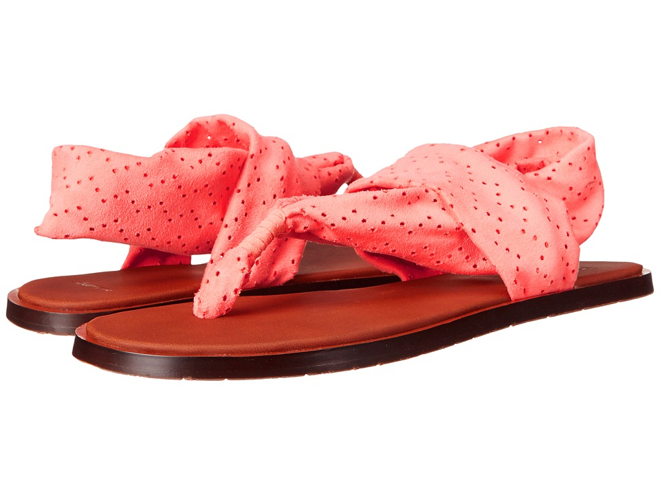 Sanuk - Yoga Devine (Hot Coral) Women's Sandals
