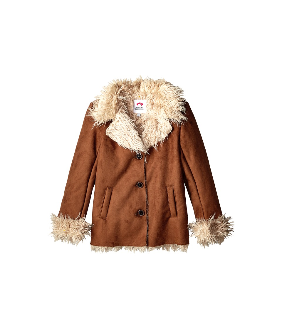 Appaman Kids - Shearling Coat (Toddler/Little Kids/Big Kids) (Brown) Girl