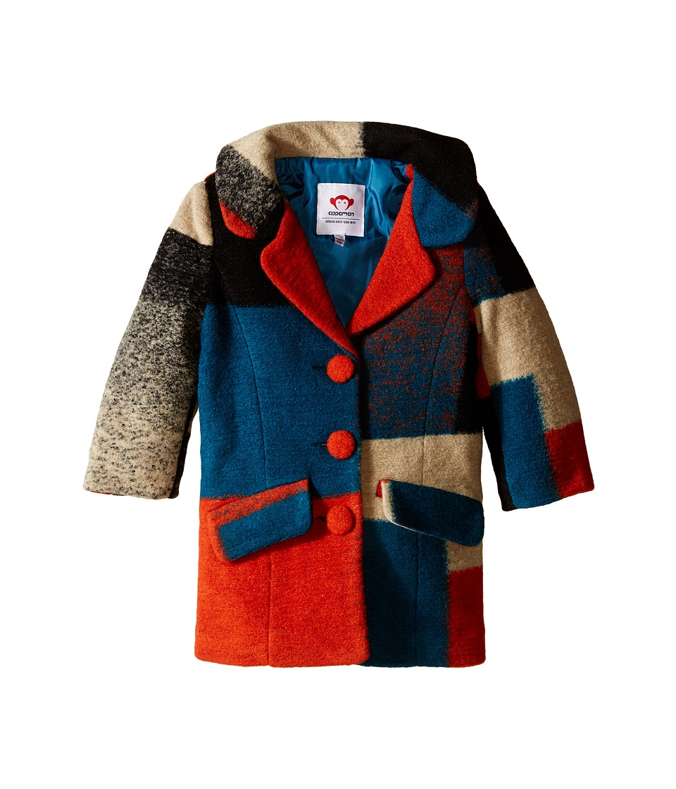 Appaman Kids - Top Coat (Toddler/Little Kids/Big Kids) (Clementine Multi) Girl's Coat