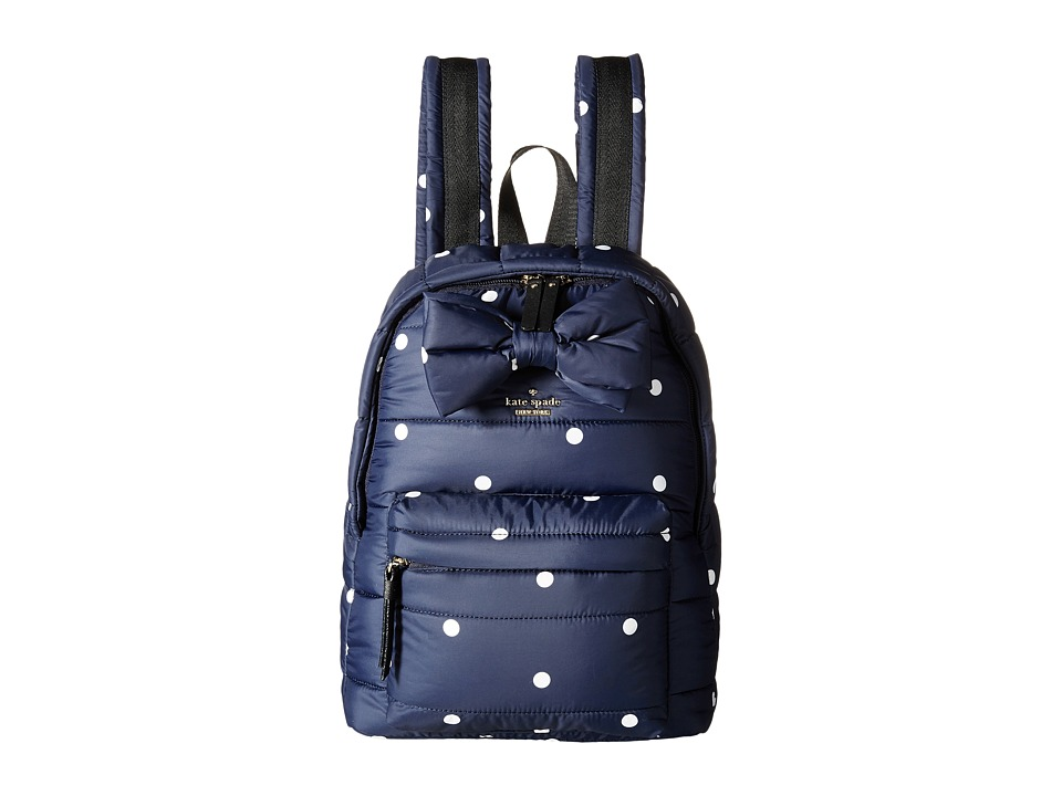 Kate Spade New York - Colby Court Reid (Rich Navy/Ballerina Pink) Backpack Bags