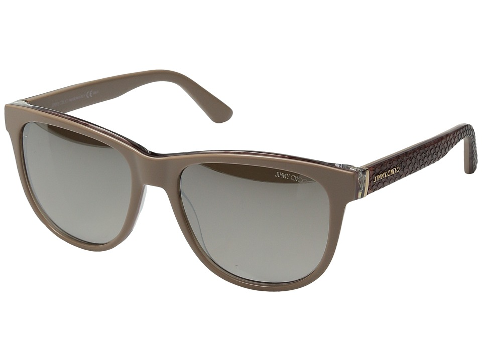 Jimmy Choo - Rebby/S (Nude Python/Brown Gradient Mirror) Fashion Sunglasses