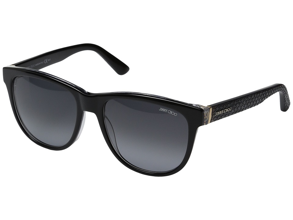 Jimmy Choo - Rebby/S (Black Python/Gray Gradient 1) Fashion Sunglasses
