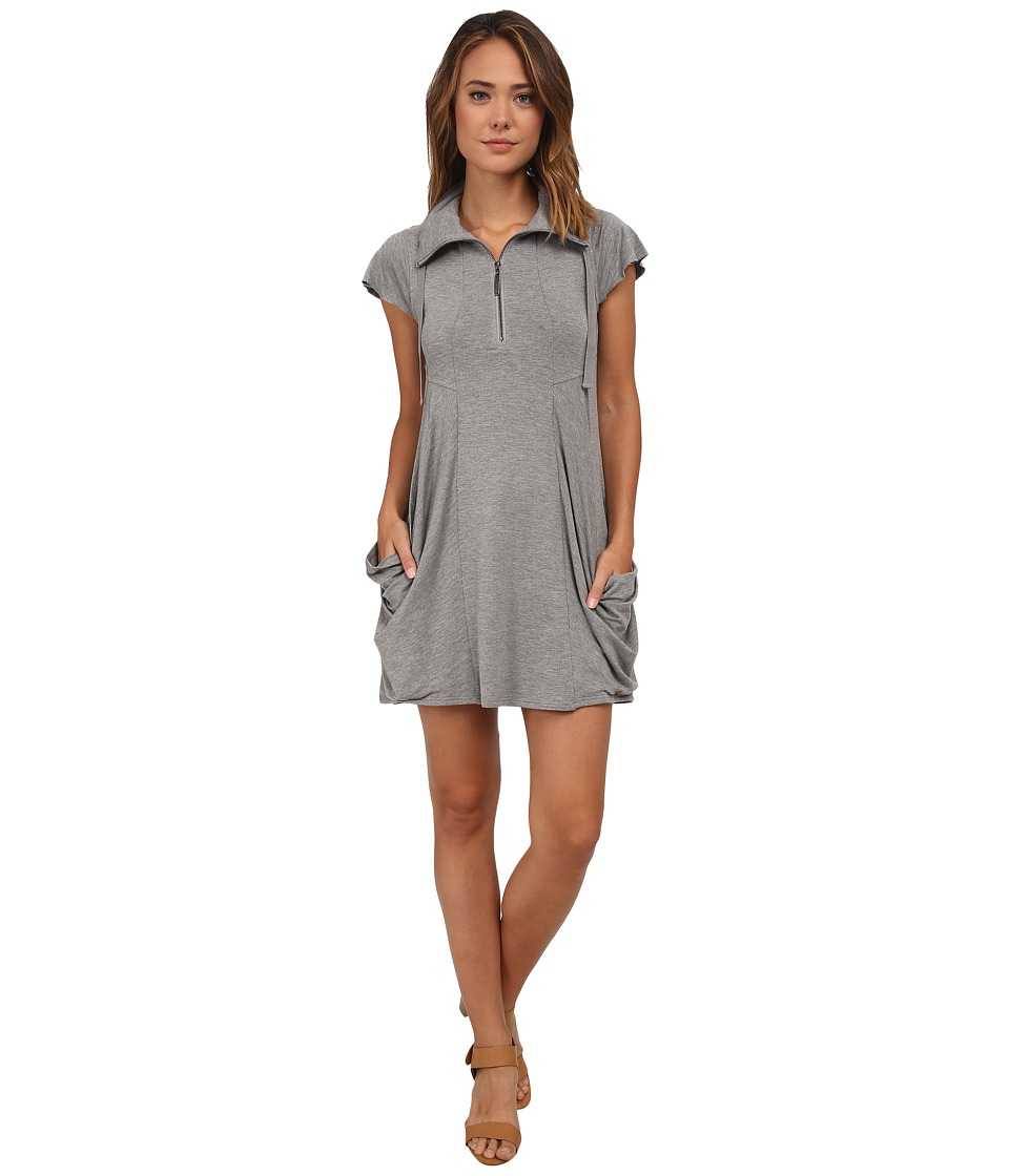 kensie Drapey French Terry Dress (Heather Grey) Women