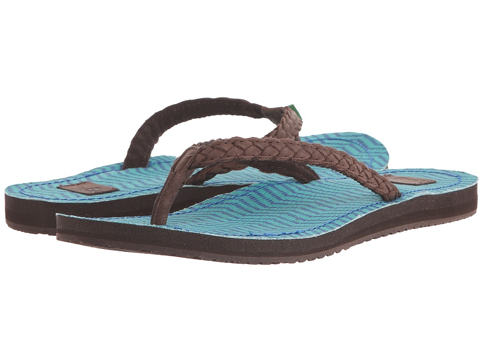 Sanuk - Poncho Viva (Brown/Turquoise Congo) Women's Sandals