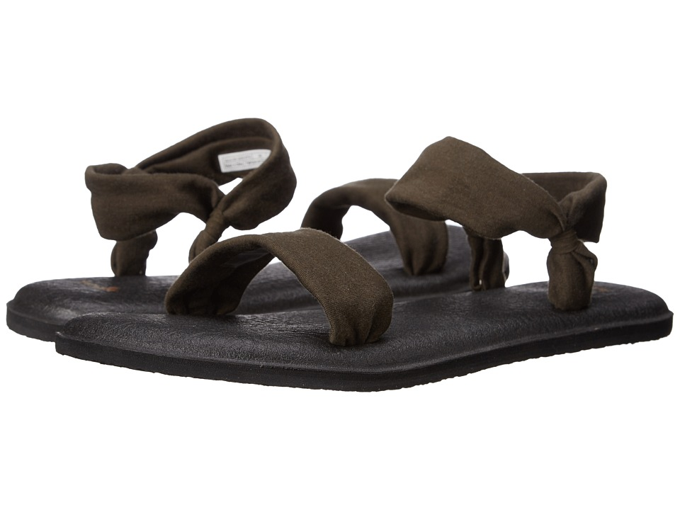 Sanuk - Yoga Duet (Olive) Women's Sandals
