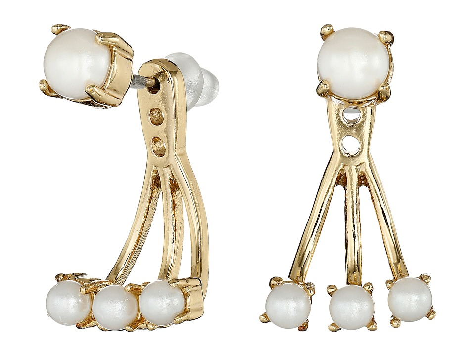 Kate Spade New York - Dainty Sparklers Delicate Ear Jacket (Cream) Earring