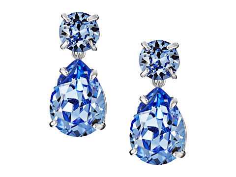 Kate Spade New York - Fancy That Double Drop Earrings (Light Sapphire) Earring