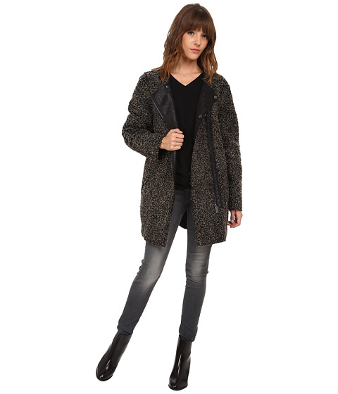 ONLY - Carolyn Bonded Coat (Dark Grey Melange) Women's Coat