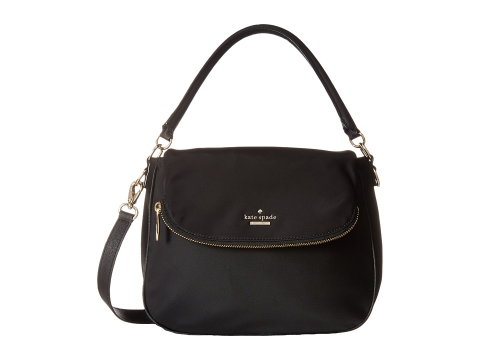 Kate Spade New York - Classic Nylon Small Devin (Black) Shoulder Handbags