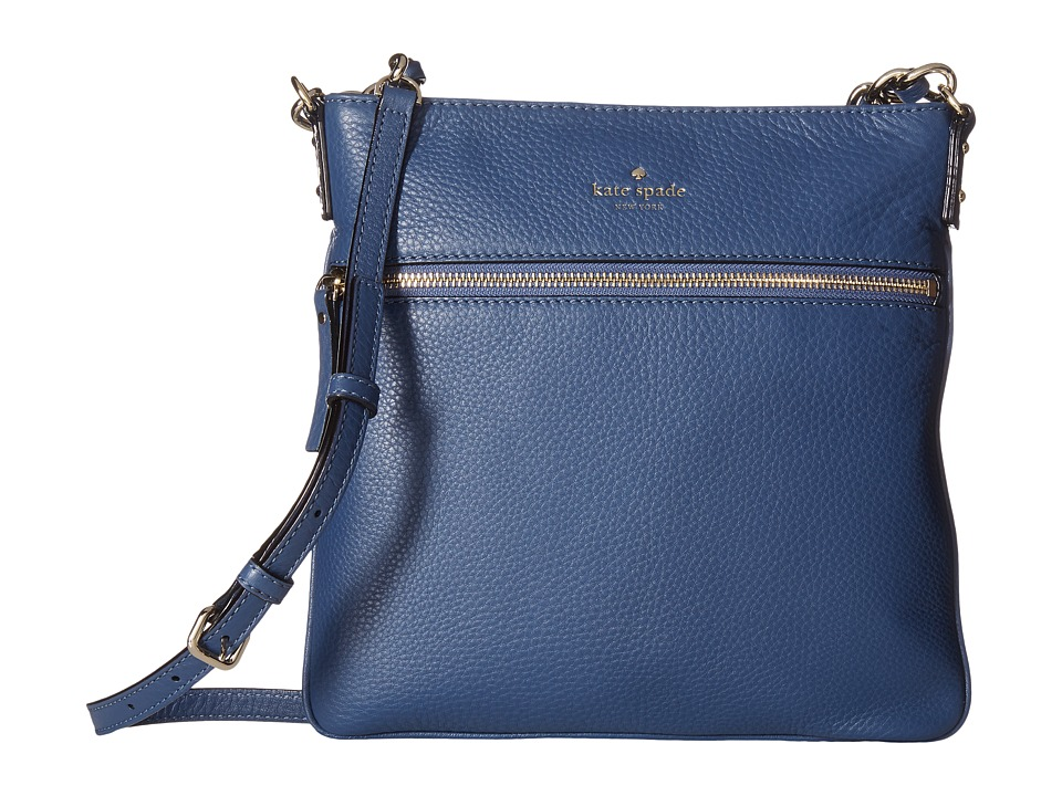Kate Spade New York - Cobble Hill Ellen (Moonlight Blue) Cross Body Handbags