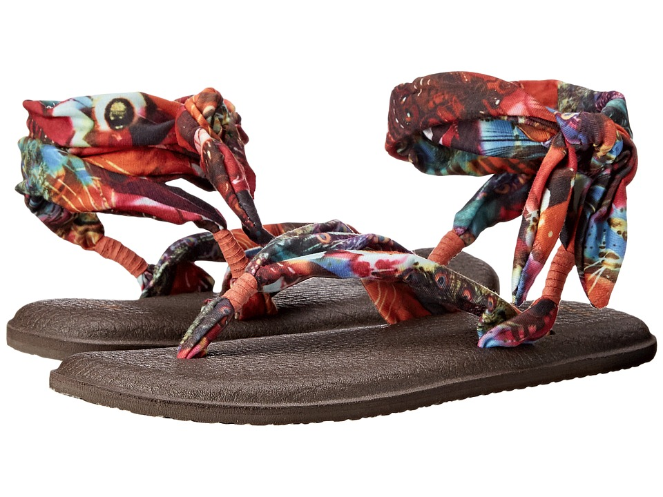 Sanuk - Yoga Slinged Up Prints (Coral Peacock) Women's Sandals